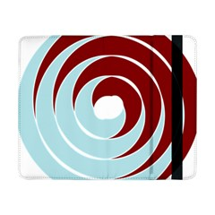 Double Spiral Thick Lines Blue Red Samsung Galaxy Tab Pro 8 4  Flip Case by Mariart