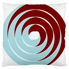Double Spiral Thick Lines Blue Red Standard Flano Cushion Case (two Sides) by Mariart