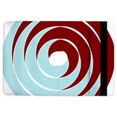 Double Spiral Thick Lines Blue Red Ipad Air 2 Flip by Mariart