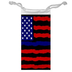 Flag American Line Star Red Blue White Black Beauty Jewelry Bag by Mariart