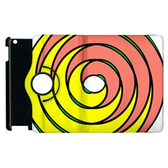 Double Spiral Thick Lines Circle Apple Ipad 3/4 Flip 360 Case by Mariart