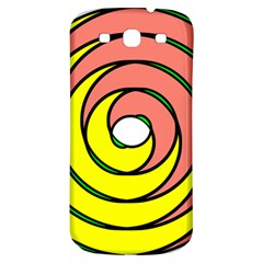 Double Spiral Thick Lines Circle Samsung Galaxy S3 S Iii Classic Hardshell Back Case by Mariart