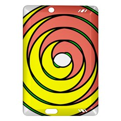 Double Spiral Thick Lines Circle Amazon Kindle Fire Hd (2013) Hardshell Case by Mariart