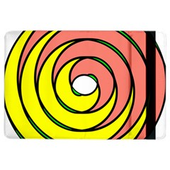 Double Spiral Thick Lines Circle Ipad Air 2 Flip by Mariart
