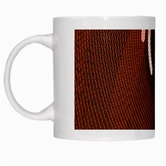 Fan Line Chevron Wave Brown White Mugs by Mariart