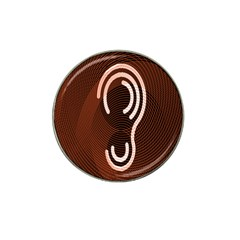 Fan Line Chevron Wave Brown Hat Clip Ball Marker (4 Pack) by Mariart