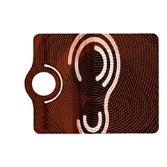 Fan Line Chevron Wave Brown Kindle Fire Hd (2013) Flip 360 Case by Mariart