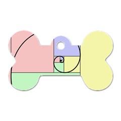 Golden Spiral Logarithmic Color Dog Tag Bone (one Side) by Mariart