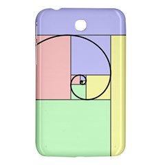 Golden Spiral Logarithmic Color Samsung Galaxy Tab 3 (7 ) P3200 Hardshell Case  by Mariart