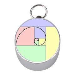 Golden Spiral Logarithmic Color Mini Silver Compasses by Mariart