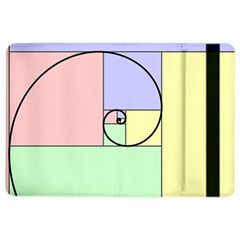 Golden Spiral Logarithmic Color Ipad Air 2 Flip by Mariart