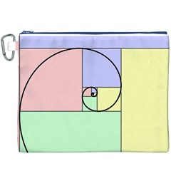 Golden Spiral Logarithmic Color Canvas Cosmetic Bag (xxxl) by Mariart