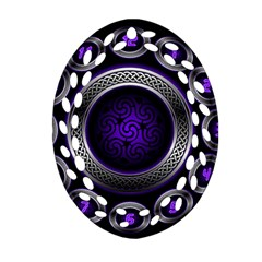 Digital Celtic Clock Template Time Number Purple Ornament (oval Filigree) by Mariart