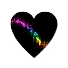 Illustration Light Space Rainbow Heart Magnet by Mariart