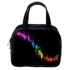 Illustration Light Space Rainbow Classic Handbags (one Side) by Mariart