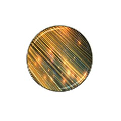 Golden Blue Lines Sparkling Wild Animation Background Space Hat Clip Ball Marker (4 Pack) by Mariart