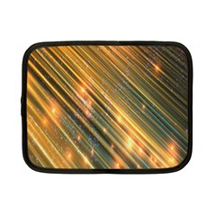 Golden Blue Lines Sparkling Wild Animation Background Space Netbook Case (small)  by Mariart