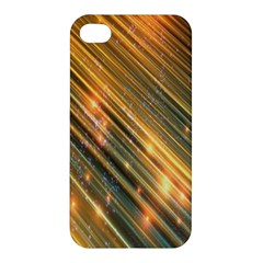 Golden Blue Lines Sparkling Wild Animation Background Space Apple Iphone 4/4s Hardshell Case by Mariart