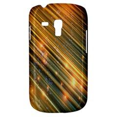 Golden Blue Lines Sparkling Wild Animation Background Space Galaxy S3 Mini by Mariart