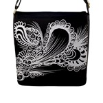 Black abstract bag - Flap Closure Messenger Bag (L)