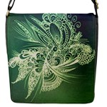 Dark green abstract bag - Flap Closure Messenger Bag (S)
