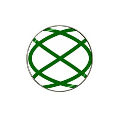 Lissajous Small Green Line Hat Clip Ball Marker by Mariart