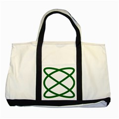 Lissajous Small Green Line Two Tone Tote Bag by Mariart