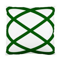 Lissajous Small Green Line Standard Cushion Case (one Side) by Mariart