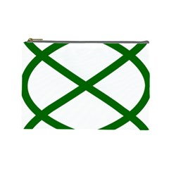 Lissajous Small Green Line Cosmetic Bag (large)  by Mariart