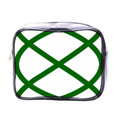 Lissajous Small Green Line Mini Toiletries Bags by Mariart