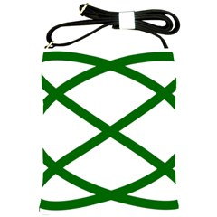 Lissajous Small Green Line Shoulder Sling Bags by Mariart