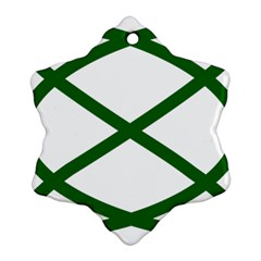 Lissajous Small Green Line Ornament (snowflake) by Mariart
