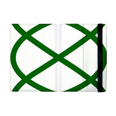 Lissajous Small Green Line Apple Ipad Mini Flip Case by Mariart
