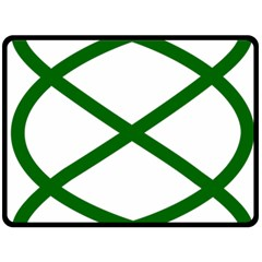 Lissajous Small Green Line Double Sided Fleece Blanket (large)  by Mariart