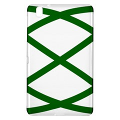 Lissajous Small Green Line Samsung Galaxy Tab Pro 8 4 Hardshell Case by Mariart