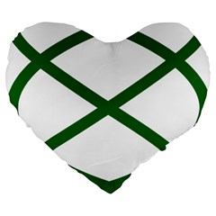Lissajous Small Green Line Large 19  Premium Flano Heart Shape Cushions by Mariart