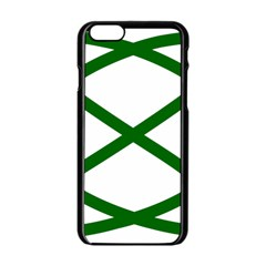 Lissajous Small Green Line Apple Iphone 6/6s Black Enamel Case by Mariart