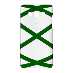 Lissajous Small Green Line Samsung Galaxy A5 Hardshell Case  by Mariart