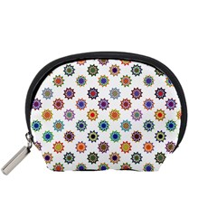 Flowers Pattern Recolor Artwork Sunflower Rainbow Beauty Accessory Pouches (small)  by Mariart