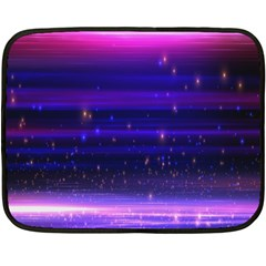 Massive Flare Lines Horizon Glow Particles Animation Background Space Double Sided Fleece Blanket (mini)  by Mariart