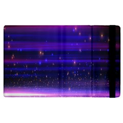 Massive Flare Lines Horizon Glow Particles Animation Background Space Apple Ipad 3/4 Flip Case by Mariart