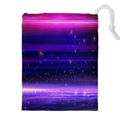 Massive Flare Lines Horizon Glow Particles Animation Background Space Drawstring Pouches (xxl) by Mariart