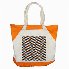 Lines Chevron Yellow Pink Blue Black White Cute Accent Tote Bag by Mariart