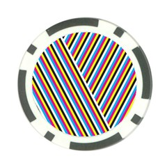 Lines Chevron Yellow Pink Blue Black White Cute Poker Chip Card Guard by Mariart