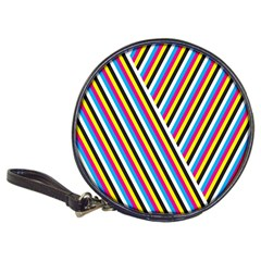 Lines Chevron Yellow Pink Blue Black White Cute Classic 20 Cd Wallets by Mariart