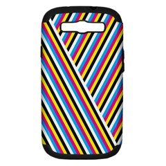 Lines Chevron Yellow Pink Blue Black White Cute Samsung Galaxy S Iii Hardshell Case (pc+silicone) by Mariart