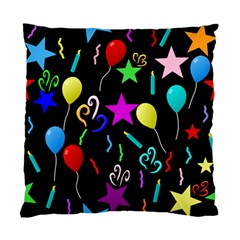 Party Pattern Star Balloon Candle Happy Standard Cushion Case (two Sides) by Mariart