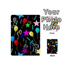 Party Pattern Star Balloon Candle Happy Playing Cards 54 (mini)  by Mariart
