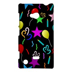 Party Pattern Star Balloon Candle Happy Nokia Lumia 720 by Mariart