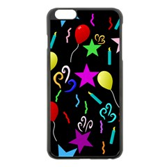 Party Pattern Star Balloon Candle Happy Apple Iphone 6 Plus/6s Plus Black Enamel Case by Mariart